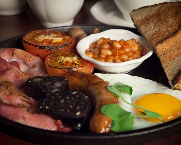 A Full Cooked breakfast at the Wheatley Arms